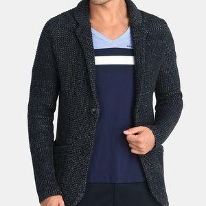 Armani Exchange Marled Yarn knit cardigan  blazer